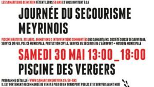 Afin de célébrer les 50 ans de la Section des Samaritains de Meyrin, les différents acteurs assurant la sécurité des citoyens meyrinois se retrouveront le samedi 30 mai prochain à la piscine des Vergers.