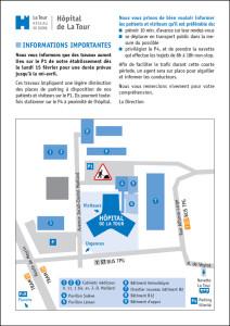 Travaux Hôpital de La Tour